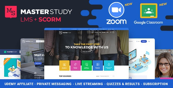 Masterstudy Education WordPress Theme Free Download