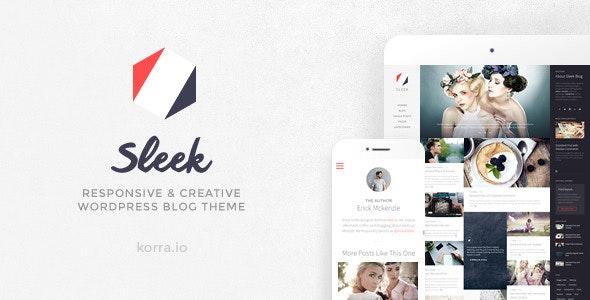 Sleek Blog Wordpress Theme