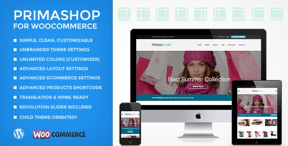 PRIMASHOP CLEAN WOOCOMMERCE WORDPRESS THEME