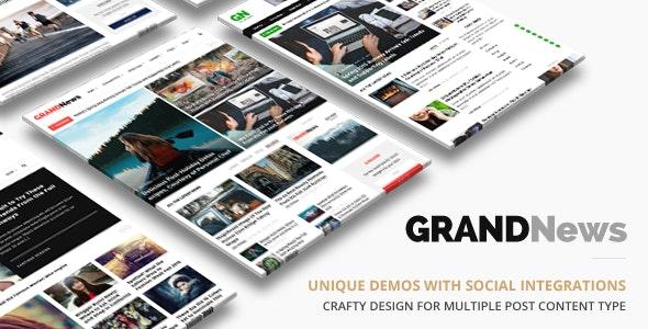 Grand News WordPress news theme