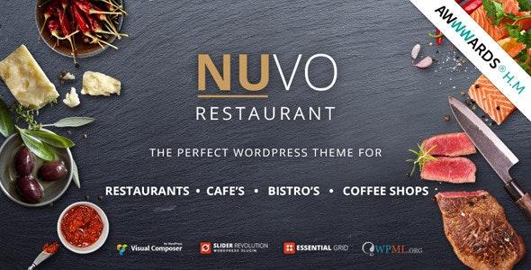 NUVO CAFE & RESTAURANT WORDPRESS THEME v 6.1.0
