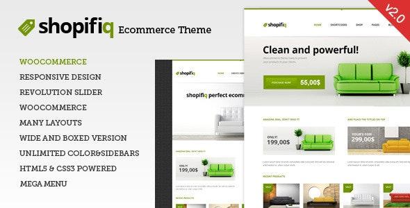 Shopifiq Ecommerce Wordpress Theme
