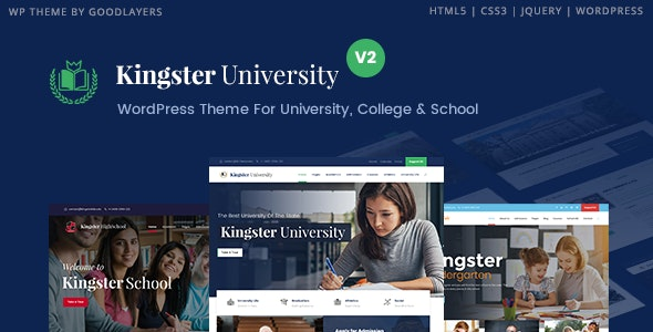 Kingster Education WordPress For University College and School