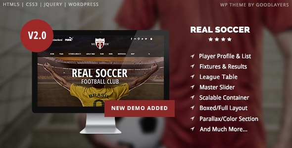 REAL SOCCER – SPORT CLUBS RESPONSIVE WP THEME 2.31