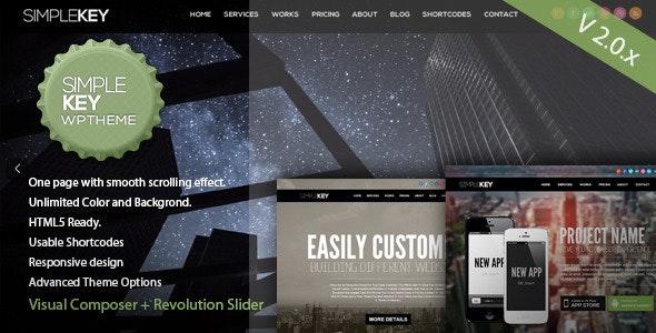 Simplekey One Page Portfolio Wordpress Theme