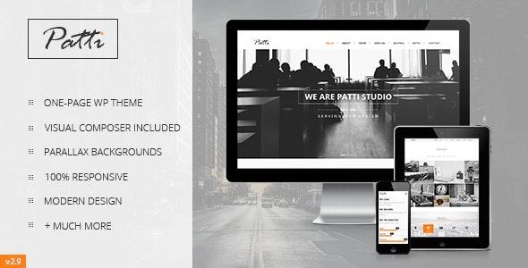 Patti WordPress landing page template