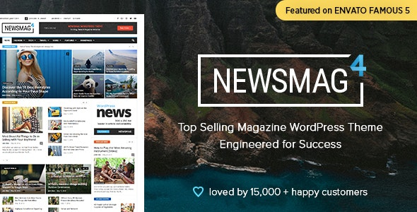NEWSMAG NEWS MAGAZINE NEWSPAPER Wordpress Theme
