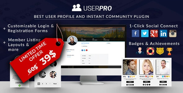 USERPRO USER PROFILES WITH SOCIAL LOGIN