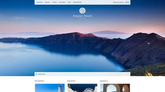 Aegean Resort WordPress Theme Free Download