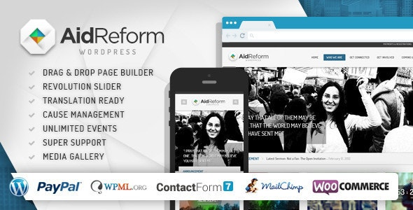 Aid Reform NGO Donation and Charity Theme