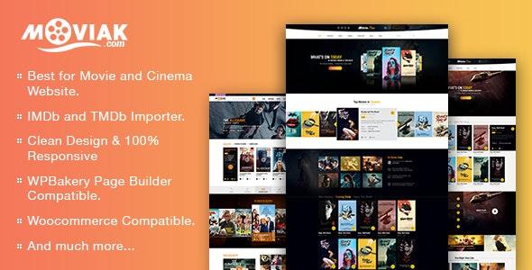 AmyMovie template for movie site on WordPress