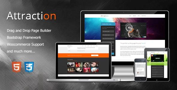 Attraction Responsive WordPress Landing Page Theme