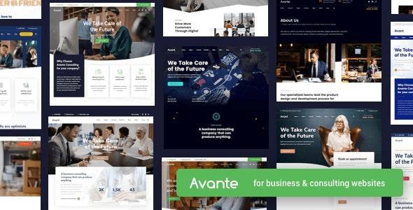 Avante Business Consulting WordPress Theme
