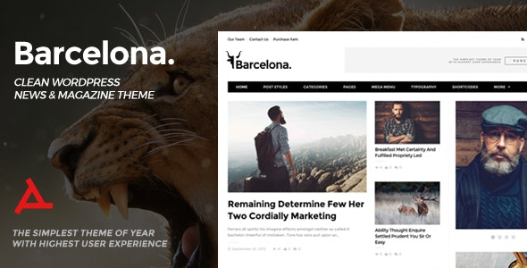 Barcelona. - Clean News & Magazine WordPress Theme