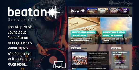 Beaton - Music, Radio & Events WordPress Theme
