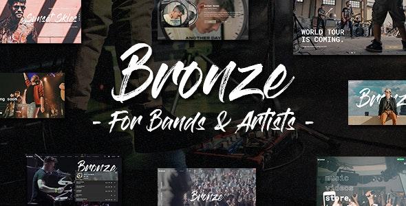Bronze Professional WordPress Music Theme