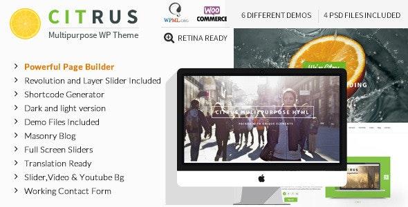 Citrus - WordPress One Page Theme