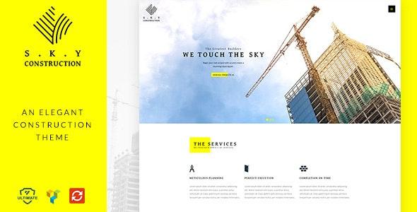Construction WordPress Theme Free Download