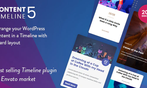 Content Timeline - Responsive WordPress Plugin for Displaying Posts Categories in a Sliding Timeline