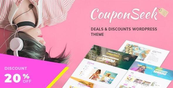 CouponSeek Deals Discounts WordPress Theme