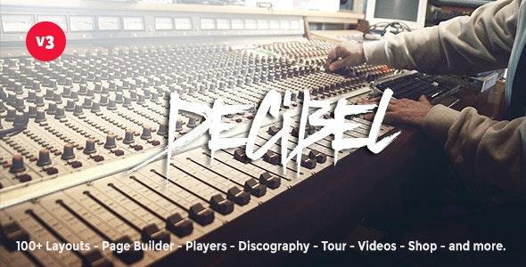 DECIBEL – PROFESSIONAL MUSIC WORDPRESS THEME