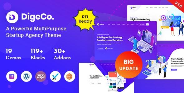 Digeco - Startup Agency WordPress Theme