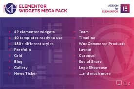 ELEMENTOR WIDGETS MEGA PACK WORDPRESS PLUGIN 1.0