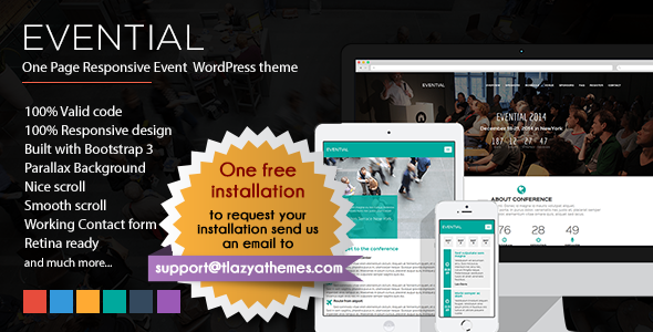 EVENTIAL – ONE PAGE RESPONSIVE EVENT WORDPRESS THEME