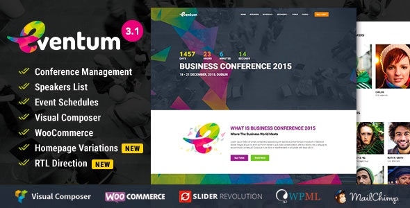 EVENTUM – CONFERENCE & EVENT WORDPRESS THEME