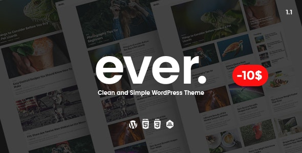 EVER – CLEAN AND SIMPLE WORDPRESS THEME