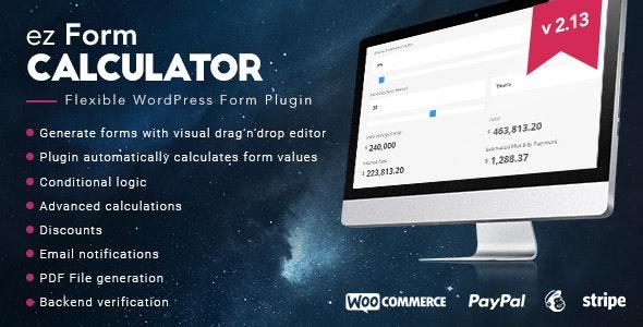 EZ FORM CALCULATOR – WORDPRESS PLUGIN 2.10.4.4