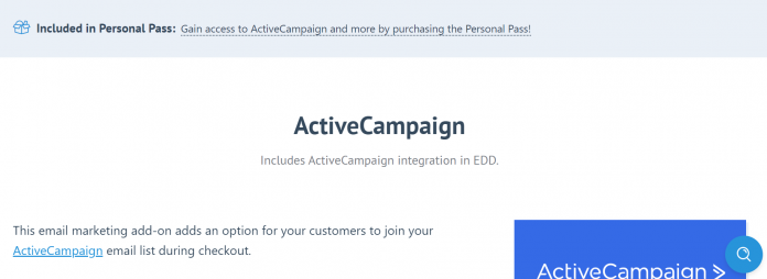 Easy Digital Downloads Active Campaign Addon