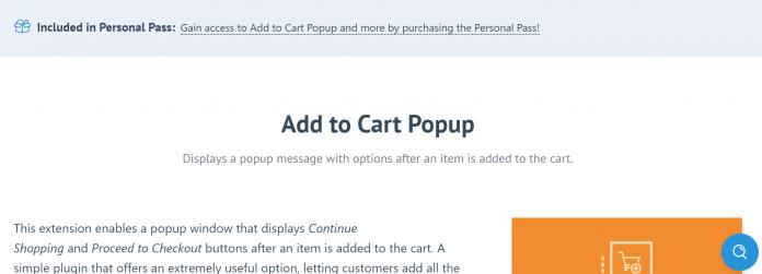 Easy Digital Downloads Add to Cart Popup Addon
