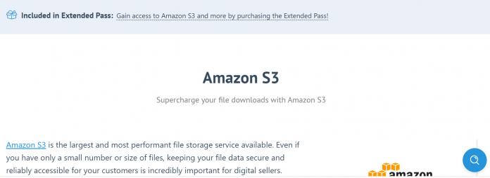 Easy Digital Downloads Amazon S3 Addon