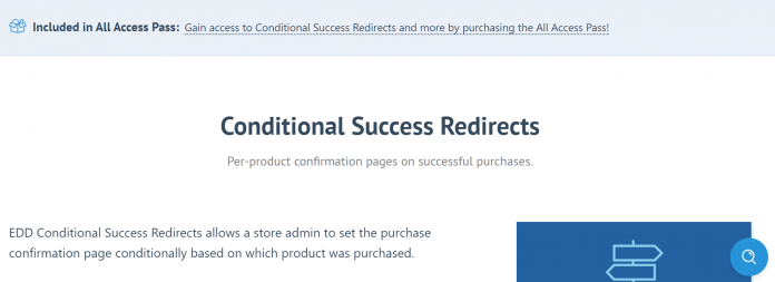 Easy Digital Downloads Conditional Success Redirects Addon