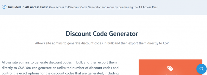 Easy Digital Downloads Discount Code Generator Addon