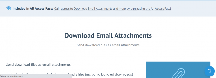 Easy Digital Downloads Download Email Attachments Addon