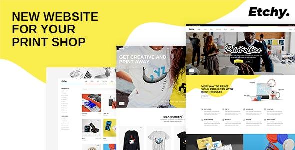 Etchy WordPress printing store Theme