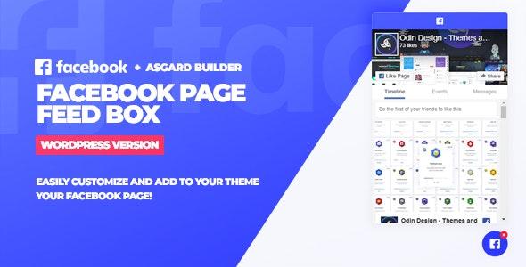 FACEBOOK PAGE FEED BOX WORDPRESS PLUGIN 1.0.0