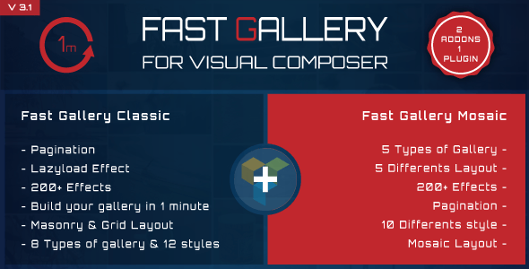 FAST GALLERY FOR VISUAL COMPOSER PLUGIN