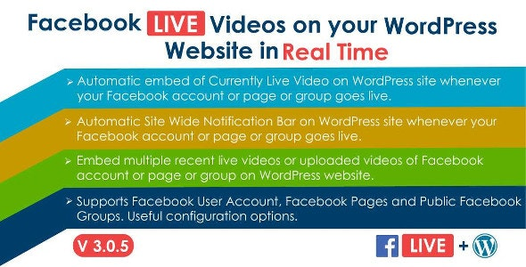 Facebook Live Video Auto Embed for WordPress v3.0.1 Free Download