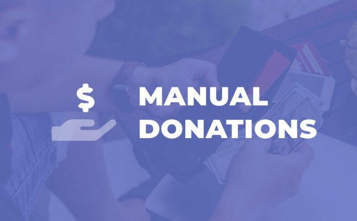 Give Manual Donations