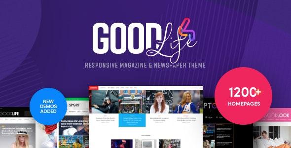 GoodLife Magazine Newspaper WordPress Theme