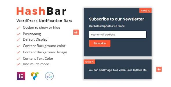 HashBar Pro - WordPress Notification Bar