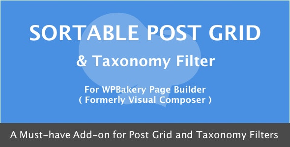 VISUAL COMPOSER SORTABLE GRID TAXONOMY FILTER