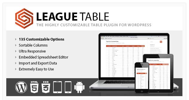 LEAGUE TABLE WORDPRESS PLUGIN v2.07