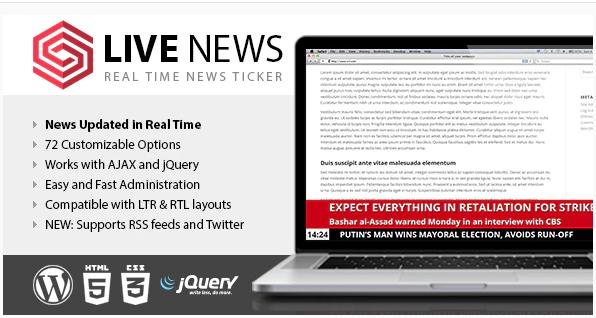 LIVE NEWS REAL TIME NEWS TICKER v2.10