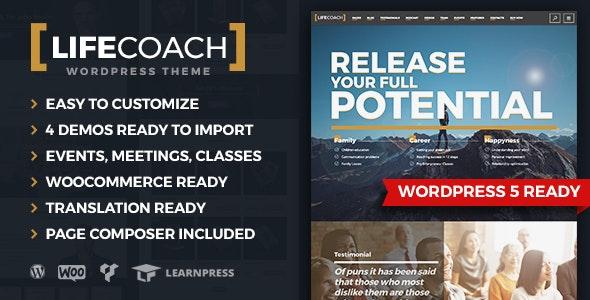 Life Coach WordPress Theme Coaching Template