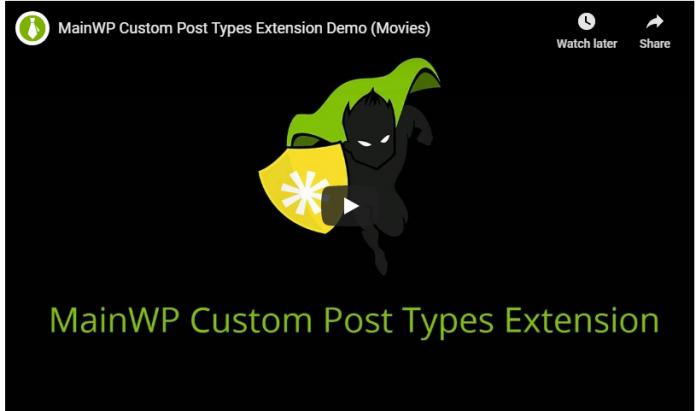 MAINWP CUSTOM POST TYPES EXTENSION v4.0.1