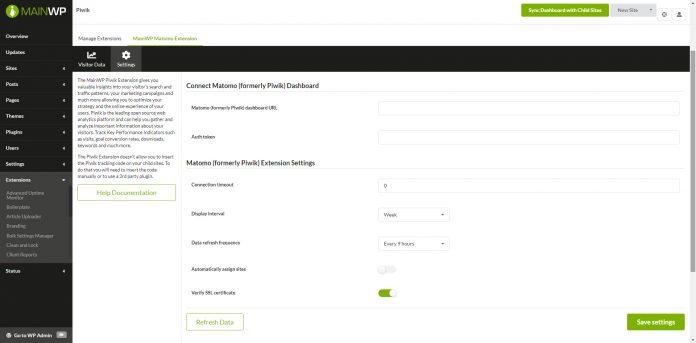 MAINWP PIWIK EXTENSION v4.0
